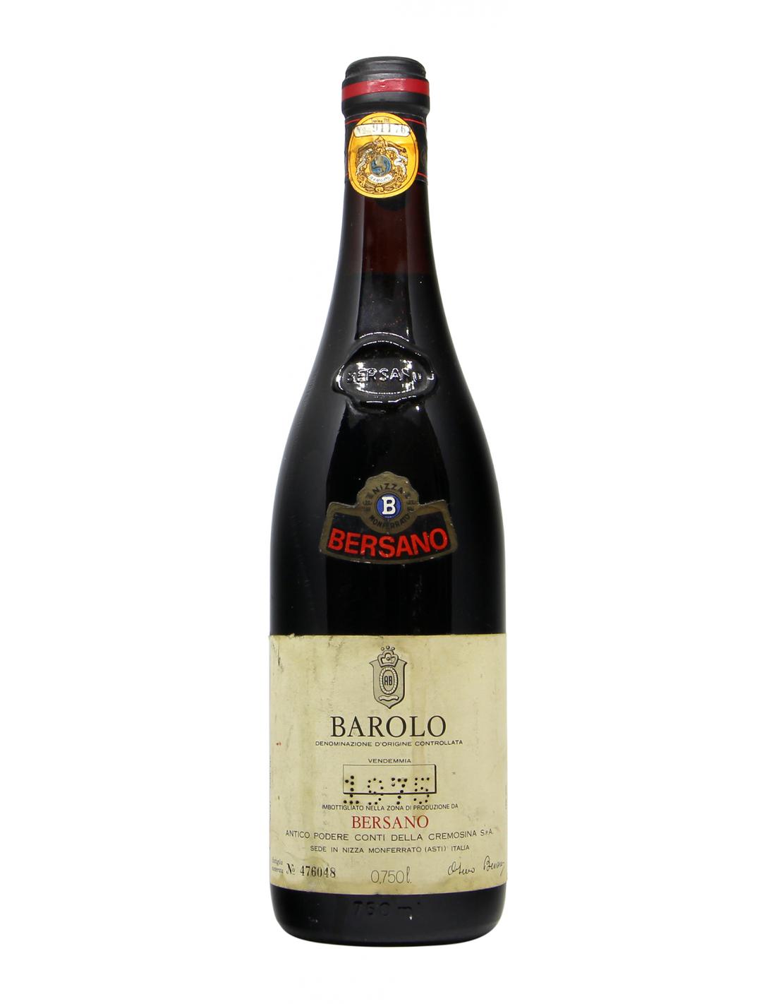 BAROLO 1975 BERSANO Grandi Bottiglie