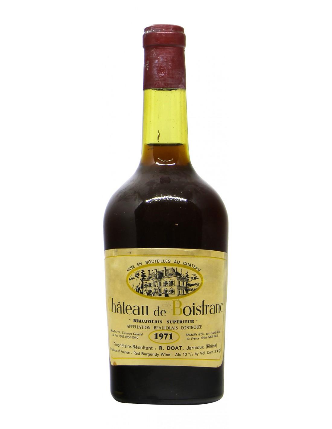 CHATEAU DE BOISTRANC 1971 R.DOAT Grandi Bottiglie