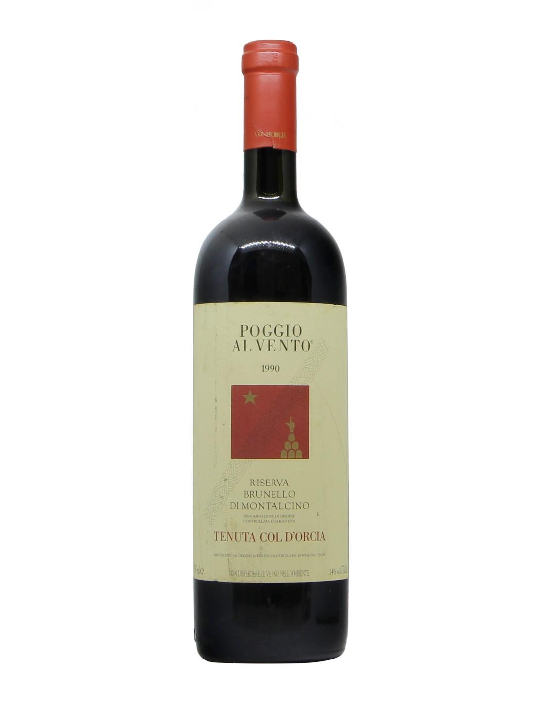 BRUNELLO DI MONTALCINO RISERVA POGGIO AL VENTO 1990 TENUTA COL D'ORCIA Grandi Bottiglie