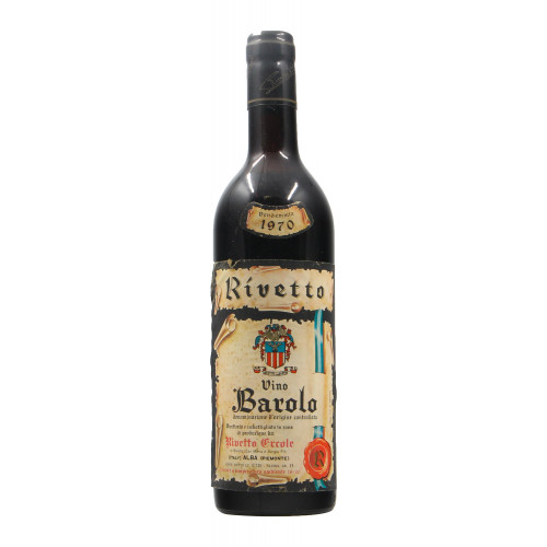 BAROLO 1970 RIVETTO ERCOLE Grandi Bottiglie