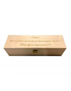 ILVA - Cassetta vino personalizzata in legno per 1 bottiglia