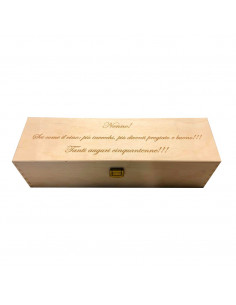 PERSONALIZED WOODEN WINE BOX - 1 BOTTLE - ILVA