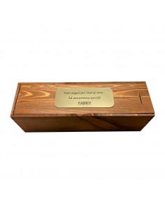 ELISA - Cassetta vino personalizzata in legno per 1 bottiglia