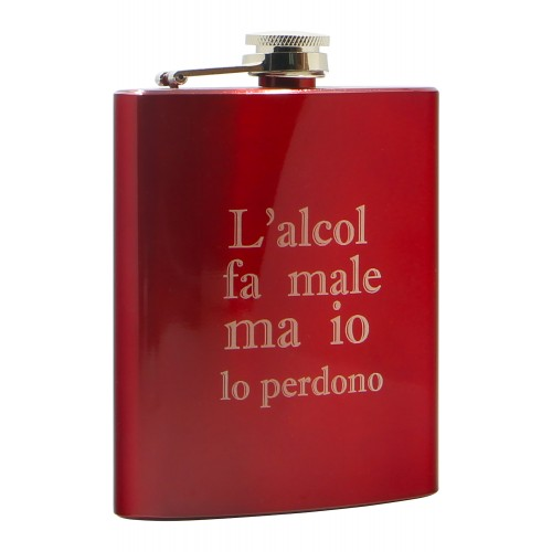 PERSONALIZED LIQUOR RED FLASK - JACK
