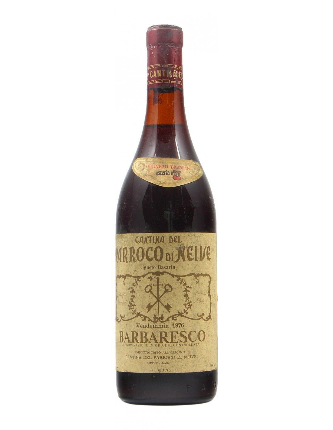 BARBARESCO VIGNETO DEL BASARIN 1976 CANTINA DEL PARROCO DI NEIVE Grandi Bottiglie
