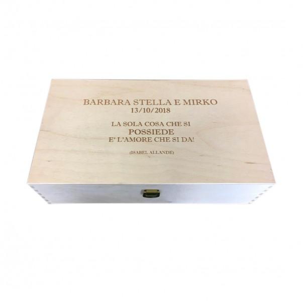Cassetta in legno per vino personalizzata - 2 bottiglie - ilva2 WINE ATTACH Grandi Bottiglie
