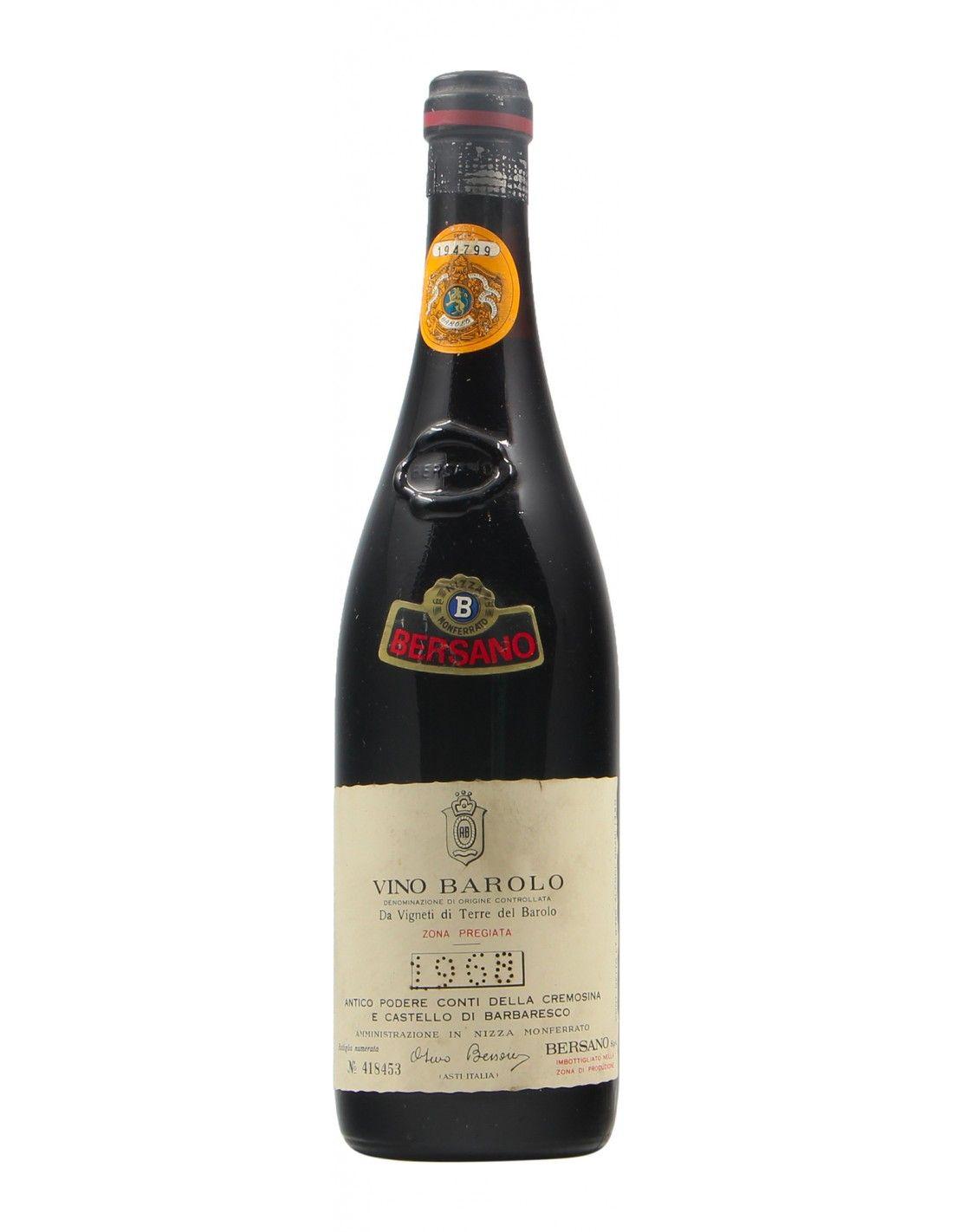 BAROLO 1968 BERSANO Grandi Bottiglie
