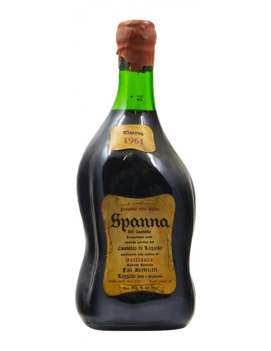 SPANNA RISERVA CASTELLO DI LOZZOLO 1961 FRATELLI BERTELETTI Grandi Bottiglie