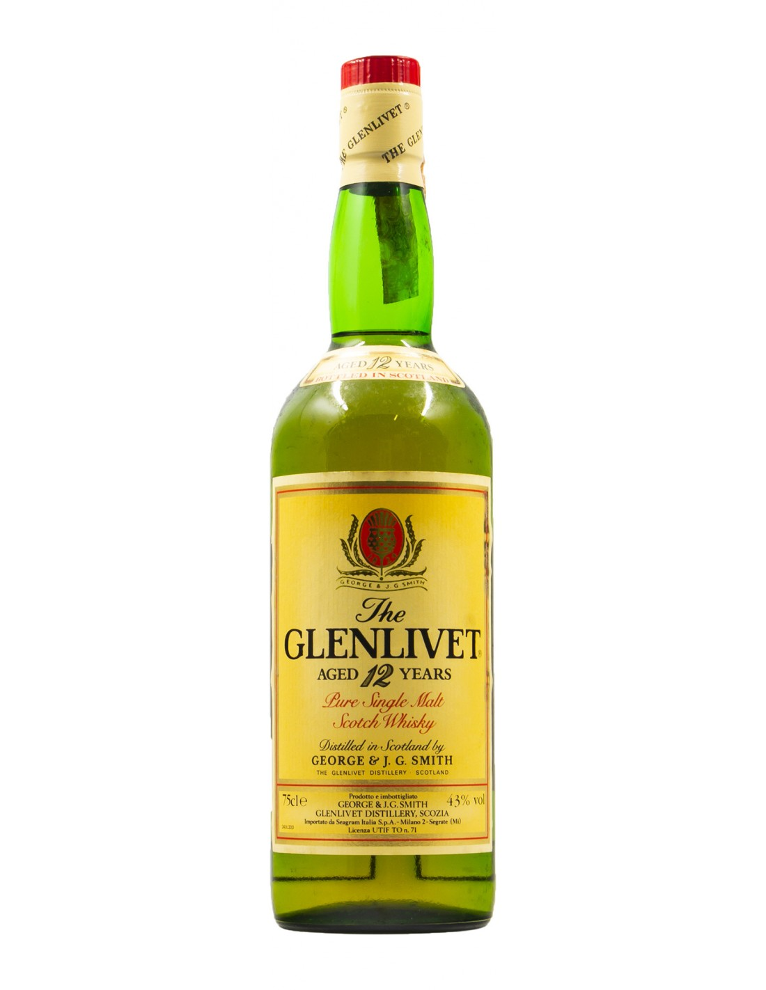 THE GLENLIVET AGED 12 YEARS OLD PURE SINGLE MALT SCOTCH WHISKY 0,75 CL 43° NV GEORGE & i.g. SMITH