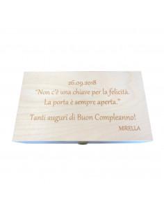 Cassetta in legno per vino personalizzata per 2 bottiglie - ILVA 2