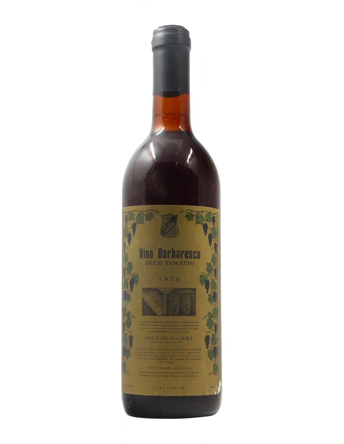 BARBARESCO BRICH FASCETTO 1974 GABRI Grandi Bottiglie