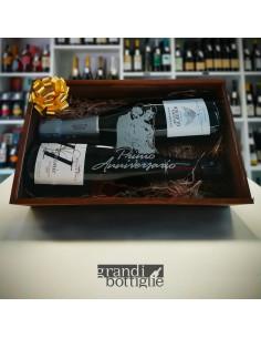 Picasso - Cassetta vino personalizzata in legno e plexiglass per 1 o 2 bottiglie
