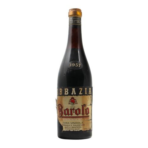 BAROLO 1957 ABBAZIA SAN GAUDENZIO GRANDI BOTTIGLIE