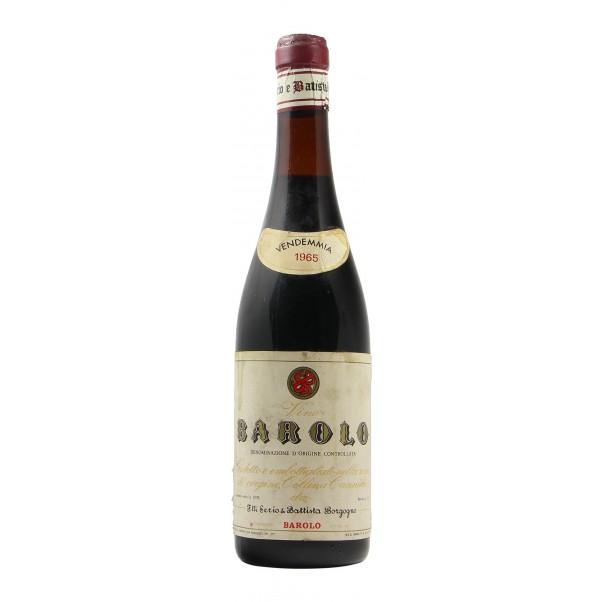 BAROLO COLLINA CANNUBIO 1965 BATTISTA BORGOGNO Grandi Bottiglie