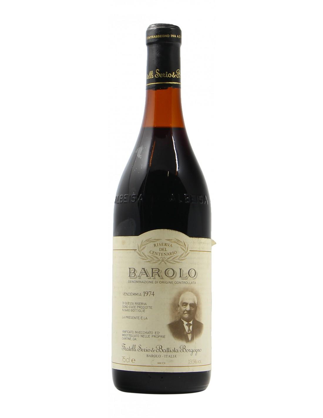 Barolo 1974 BATTISTA BORGOGNO GRANDI BOTTIGLIE