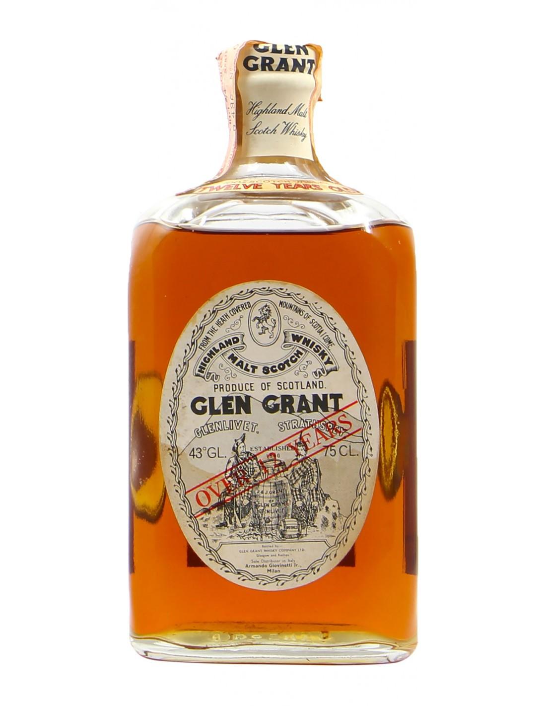 SCOTCH WHISKY OVER 12 YO 75 CL 43VOL NV GLEN GRANT Grandi Bottiglie