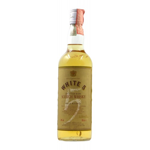 WHITE 5 SELECTED RARE SCOTCH WHISKY 7OCL 40° NV AIRD BLENDERS Grandi Bottiglie
