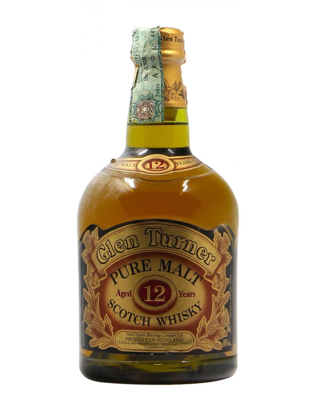 SCOTCH WHISKY PURE MALT NV GLEN TURNER Grandi Bottiglie
