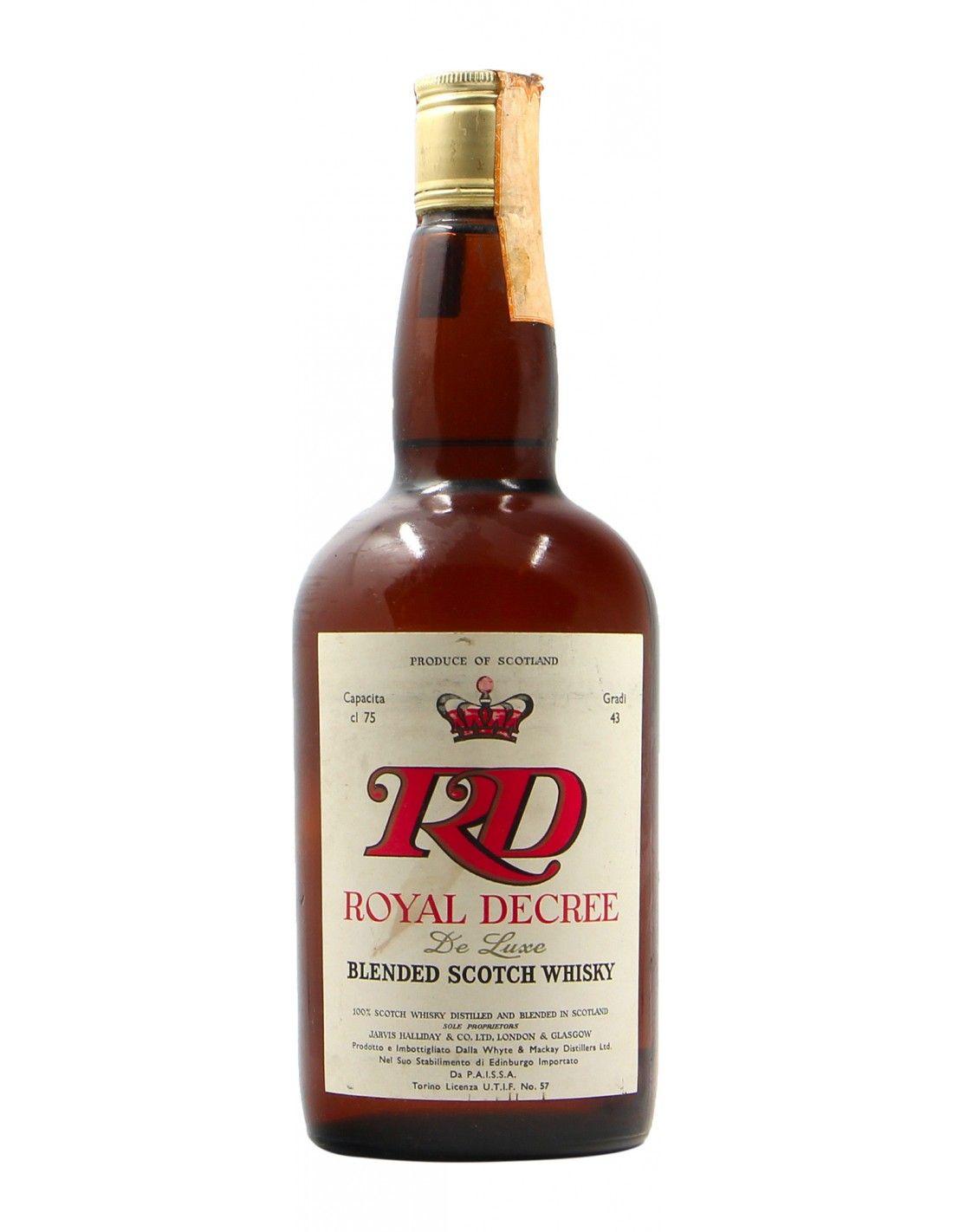 BLENDED SCOTCH WHISKY ROYAL DECREE 75CL NV ROYAL DECREE Grandi Bottiglie
