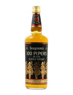 SCOTCH WHISKY DE LUXE 100 PIPERS 75CL 40° NV SEAGRAM'S Grandi Bottiglie
