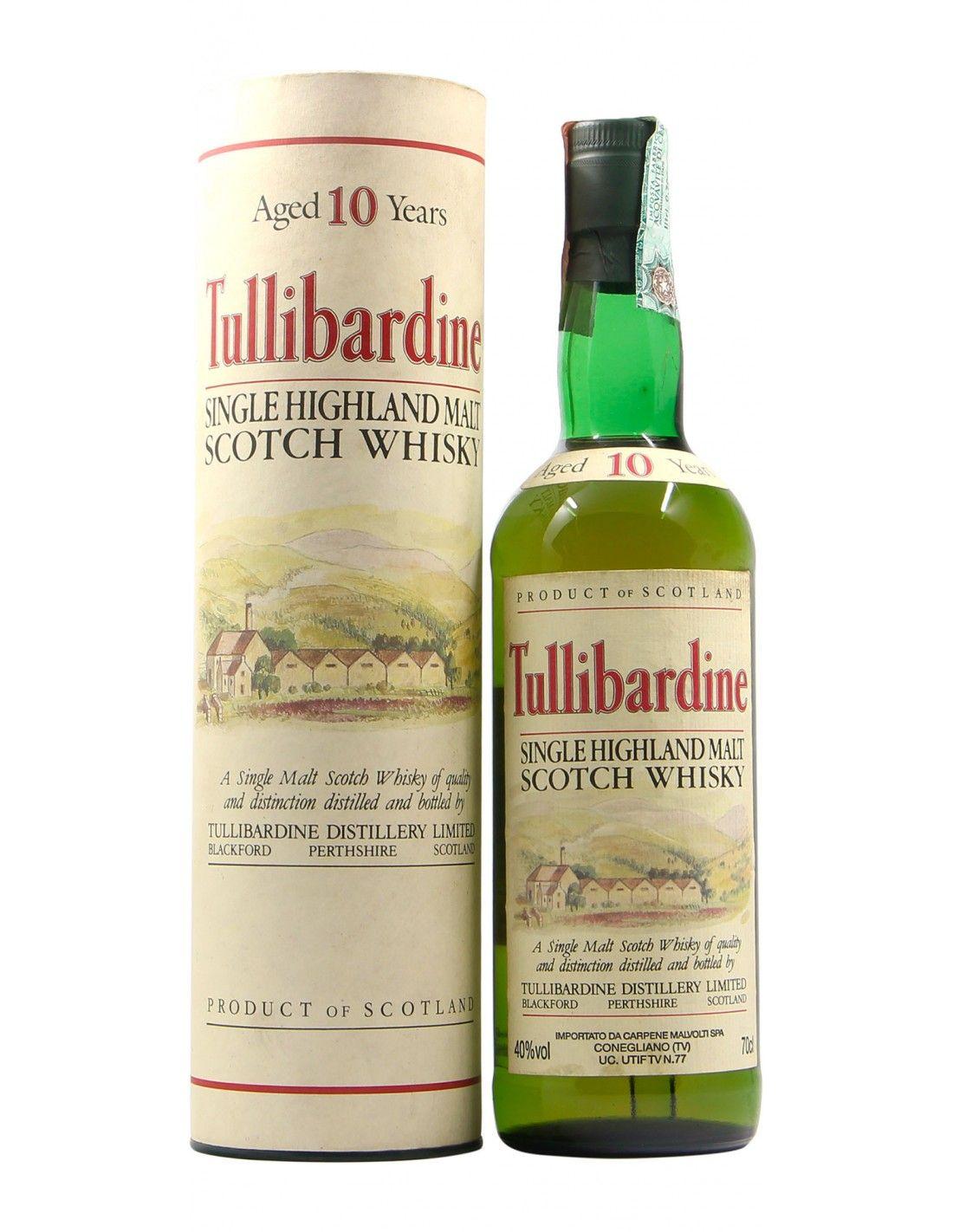 SINGLE HIGHLAND MALT SCOTCH WHISKY 10 YO NV TULLIBARDINE Grandi Bottiglie