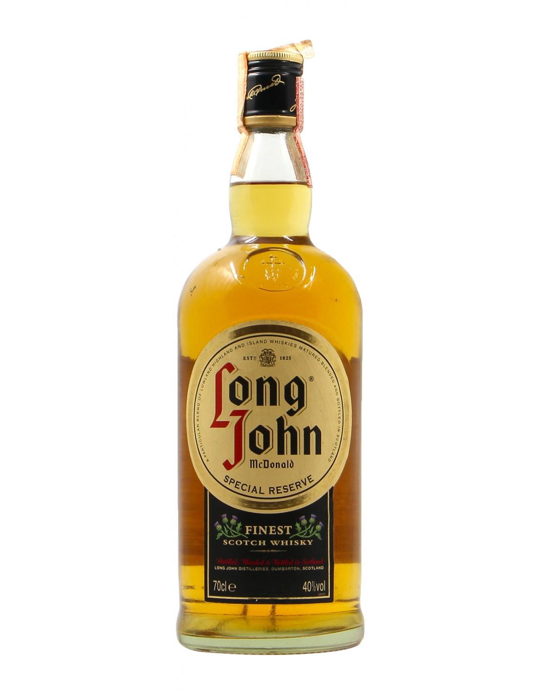 PARTICULAR SPECIAL RESERVE FINEST SCOTCH WHISKY 0.70 L 40 VOL NV LONG JOHN Grandi Bottiglie
