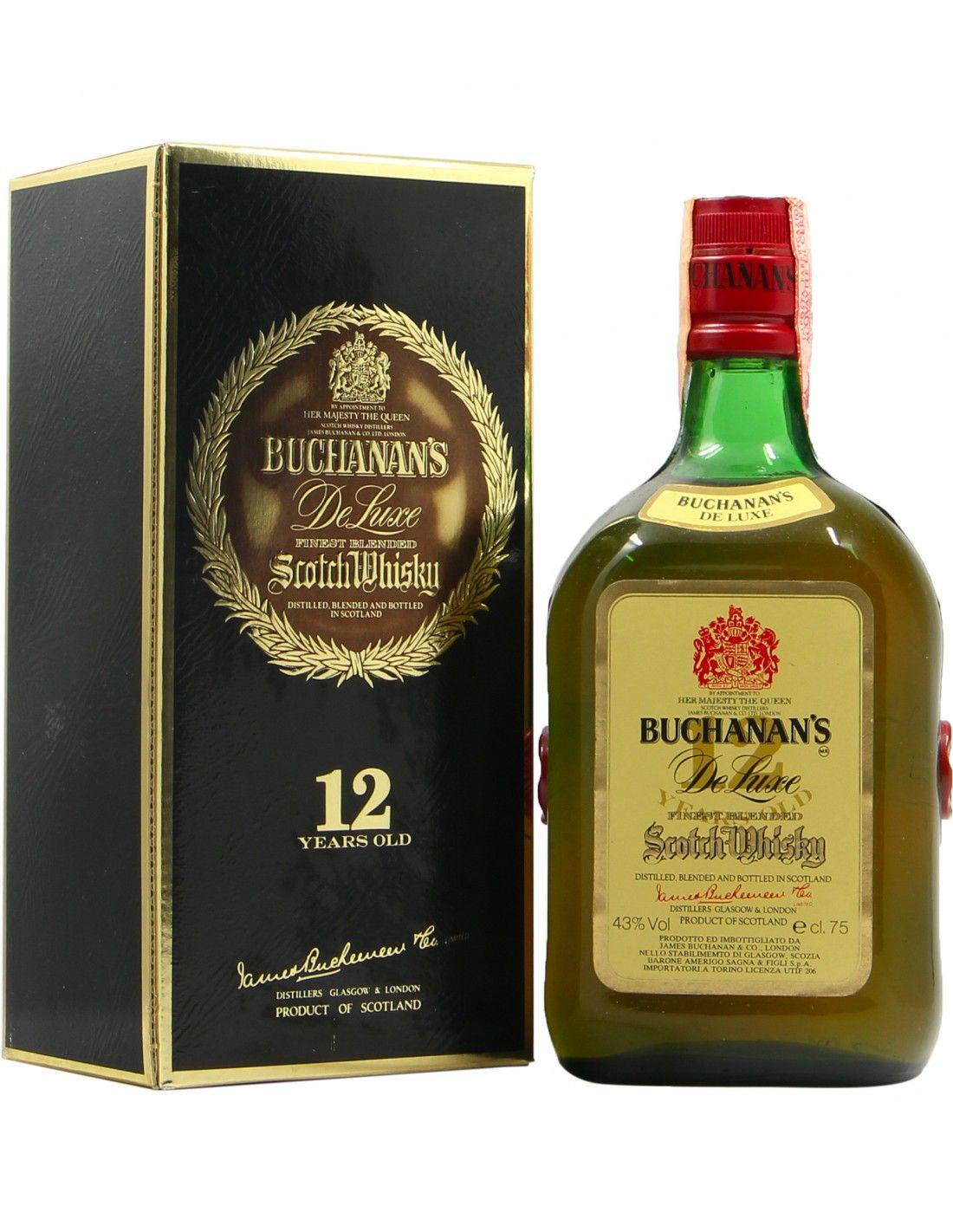 SCOTCH WHISKY FINEST BLENDED DE LUXE 12YO 43° 75CL NV BUCHANAN'S Grandi Bottiglie