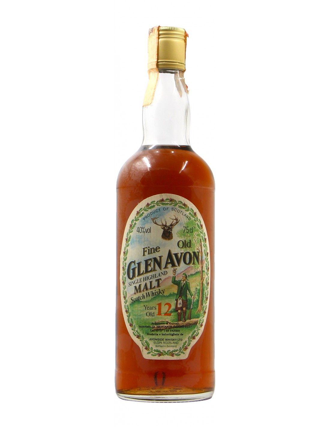 WHISKY FINE OLD GLEN AVON 12YO 75CL 40VOL BOTTLED 1990s NV GLEN AVON Grandi Bottiglie