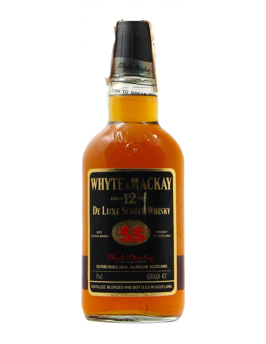 WHISKY WHYTE MACKAY 12YO 75CL 43VOL NV WHYTE & MACKAY Grandi Bottiglie