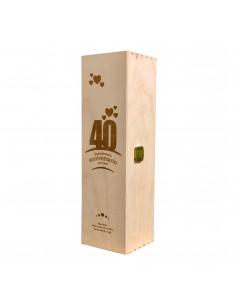 Cassetta legno vino personalizzata per 1 bottiglia - ILVA