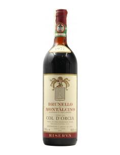 BRUNELLO DI MONTALCINO RISERVA 1977 TENUTA COL D'ORCIA Grandi Bottiglie