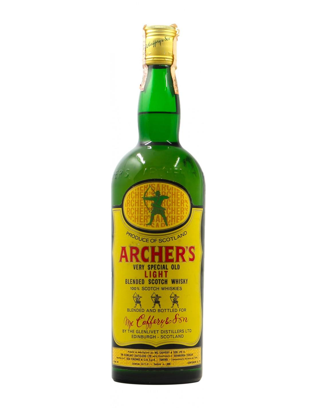 ARCHER'S VERY SPECIAL OLD LIGHT BLENDED SCOTCH WHISKY 75CL NV MC CAFFERY Grandi Bottiglie