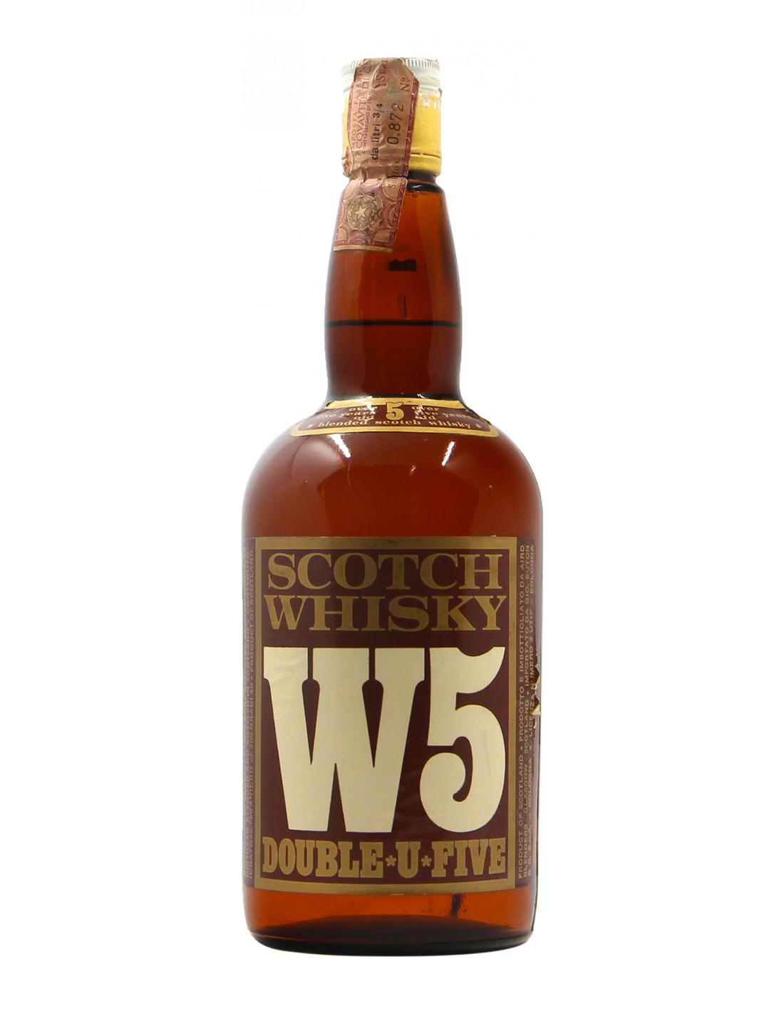W5 DOUBLE U FIVE SCOTCH WHISKY 75CL 40° NV AIRD BLENDERS Grandi Bottiglie