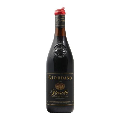 BAROLO 1987 GIORDANO Grandi Bottiglie